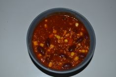 Chilli sin carne Chilli sin Carne mit Sojaschnetzel auch Low Carb geeignet. Ein leckeres gesundes Gericht, dass sehr schnell zubereiten geht.
