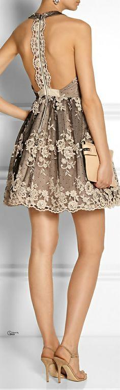 Alice + Olivia ● Beatrice embellished tulle dress