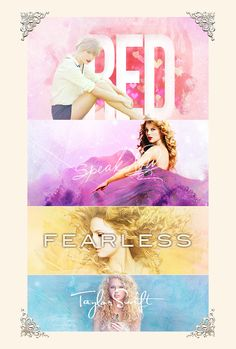 red , speak now , fearless , taylor swift
