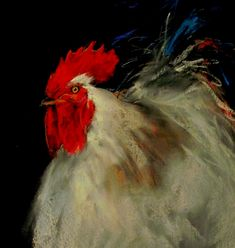 Béla Tarcsay (Hungarian, b. Chicken Painting, Chicken Art, Coqs, The Barnyard, Rooster Art, Pastel Pencils, Roosters, Impressionist, Butterflies