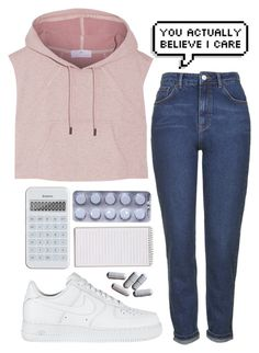 """""""#284"""" by the777 ❤ liked on Polyvore featuring Topshop, NIKE and adidas"""