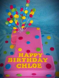 Girls First Birthday Cake - match to her dress
