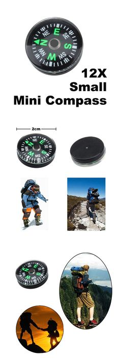 [Visit to Buy] 12 Pieces/Set 20mm Small Mini Compasses  for Paracord Bracelet Outdoor Camping Hiking Travel Emergency Survival Navigation Tool #Advertisement