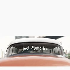 Kate Spade Just Married Window Decal