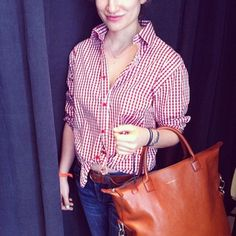 Cognac leather O'Hare tote