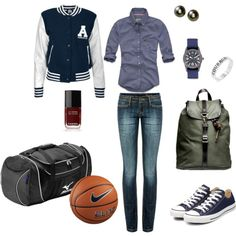 """""""High School: The Athletic Girl"""", created by dustinwaine.polyvore.com"""
