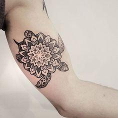turtle mandala tattoo