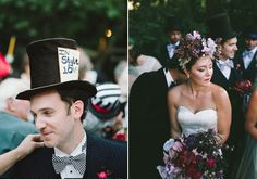 "A beautifully and brilliantly ""Mad Tea Party"" themed wedding. #marriedinmatthew Photo: Gabriel Harper Photography"