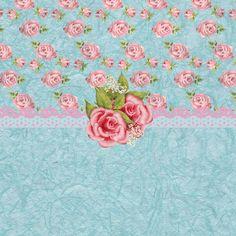 Pink Roses Digital Art - Vintage Elegant Pink Roses Pattern by Debra Miller