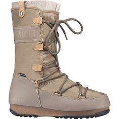 Moonboots Women's Monaco Felt Waterproof Boot - at Moosejaw.com Moon Boots, Monaco, Apres Ski Boots, Insulated Boots, Waterproof Boots, Sport Fashion, Heeled Boots, Skiing, Combat Boots