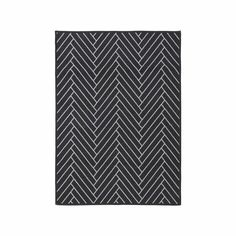 Housedoctor Deurmat Herringbone zwart lichtgrijs nylon 90x120cm - wonenmetlef.nl