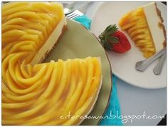 Recipes today - Chilled Mango Cheese Cake / Kek Keju Mangga Dingin