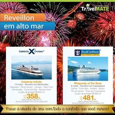 Conheçam o nosso pacote de Reveillon em alto mar! Nunca é cedo para programar uma viagem. #anonovo #cruzeiro #turismo #travelmatebrasil