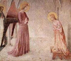 Beato  Angelico, Annunciazione della cella 3 (dettaglio), 1438-1440, Convento di San Marco, Firenze