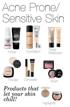 """""""Basic Face Makeup(Acne-Prone/ Sensitive Skin)"""" by fivesecondsofinspiration ❤ liked on Polyvore featuring beauty, Bare Escentuals, CC, Bourjois, Maybelline, MAKE UP FOR EVER, NARS Cosmetics, ULTA, Becca and Topshop"""