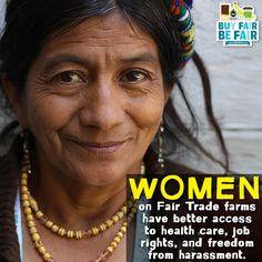 Women benefit from Fair Trade standards