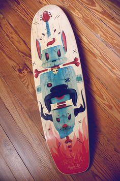 URKIN Skateboards by Julian Nuñez, via Behance  http://www.creativeboysclub.com/tags/skate