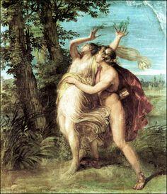 Andrea Appiani - Apollo and Daphne transformed in a laurel. Tags: apollo, apollon, daphne, dafne, transformations, metamorphoses,