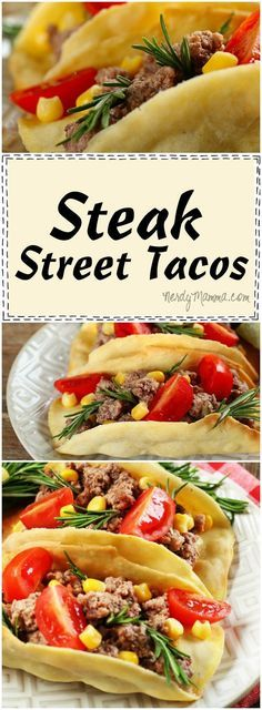 Oh, this recipe for Steak Street Tacos is so easy--I love all the rich flavors, though. I can't wait to make them myself!