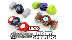 Tyler from The Brick Show shows off some LEGO Avengers themed fidget spinners he has created! Check out his Iron Man fidget spinner, Captain America fidget s. Lego Hulk, Lego Marvel, Fidget Spinner Toy, Fidget Spinners, Lego Iron Man, Fidget Toys, Lego Instructions, Lego Building, Lego Creations