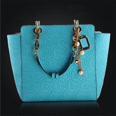 New 2016 Rose Pattern Women Handbag Fashion Women Leather Handbag Popular Shoulder Bag Genuine Leahter Tote Hot Sale Bolsas