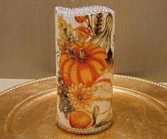 Thanksgiving LED Pillar Candle With Pumpkins, Gourds, Fall Leaves, Apples And More by DontForgetTheFlowers on Etsy Fall Candles, Flameless Candles, Pillar Candles, Decorative Candles, Thanksgiving Centerpieces, Fall Leaves, Pumpkin Decorating, Very Lovely, Gourds