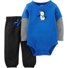 Child of Mine by Carter's Newborn Baby Boy Bodysuit and Pantset Set, Size: 12 Months, Blue