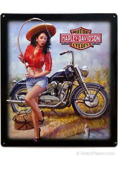 Harley ® Nice Catch Babe Tin Sign