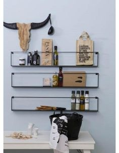 Pin by Maren S on Wohnzimmer in 2020 Wall Shelves, Shelving, Scandinavian Style Home, Multifunctional Furniture, Kitchen Styling, Metal Walls, Kitchen Interior, Interior Styling, Decorating Your Home