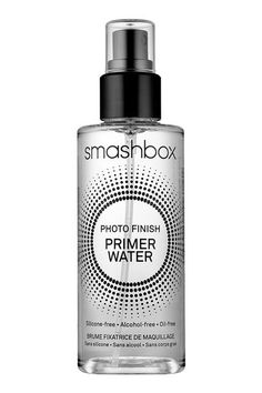 """To make your foundation look less cakey, spray your synthetic foundation brush with a water primer and whisk it across your face in back-and-forth motions to sheer down your makeup and set it in place."" — SolizSmashbox Photo Finish Water Primer, $32, available at Ulta. #refinery29 http://www.refinery29.com/perfect-skin-makeup-tips#slide-9"