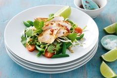 Lime & pepper vietnamese chicken salad. Absolutely delicious, fresh and zingy and easy to prepare.