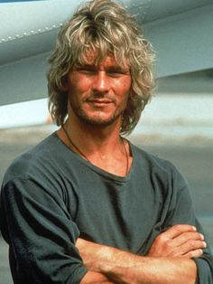 "Patrick Swayze - Actor, Dancer, and Devoted & Loving husband. This is Patrick's surfer look from the hit movie Point Break, where he starred with Keanu Reeves. I never grooved on Patrick given that he has a ""big brother"" essence, at least for me, he did."