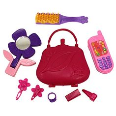 Girl's Beauty Fashion Diva Set Purse Phone Mirror Ear Rings Brush * Want additional info? Click on the image.