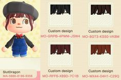 Animal Crossing Hair, Animal Crossing Wild World, Animal Crossing Guide, Animal Crossing Villagers, Animal Crossing Qr Codes Clothes, Motifs Animal, Cute Young Girl, Animal Games, New Leaf