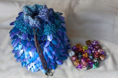 Hey, I found this really awesome Etsy listing at https://www.etsy.com/listing/477656634/massive-scalemail-dice-bag-with-lining