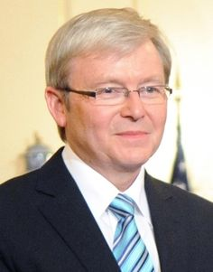 Kevin Michael Rudd (born 21 September 1957) is an Australian politician who was the 26th Prime Minister of Australia from 2007 to 2010 and the Leader of the Labor Party from 2006 to 2010. He studied a Bachelor of Arts in Asian Studies at the Australian National University, majoring in Chinese language and Chinese history.