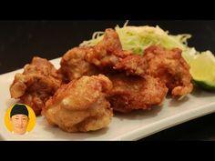 Karaage frango frito japonês - YouTube Chefs, Japanese Fried Chicken, Japanese Dishes, Chicken Drumsticks, Chicken Legs, Tempura, Tandoori Chicken, Fries, Roast