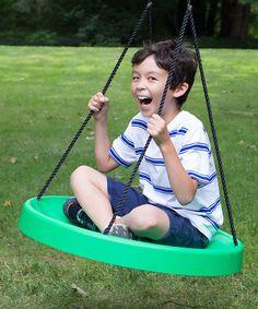 Green Super Spinner Swing