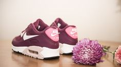 Women's Nike Air Max 90 Essential in Villain Red, Champaign, and Pink Pow | FinishLine