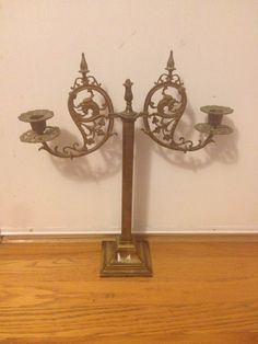 RARE Exquisite 19th Century Brass French Candelabra Griffins Highly Decorative | eBay
