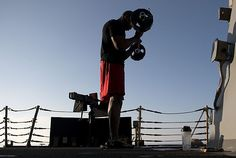 Time for some curls on the weather deck aboard the guided-missile destroyer USS Bulkeley (DDG 84).