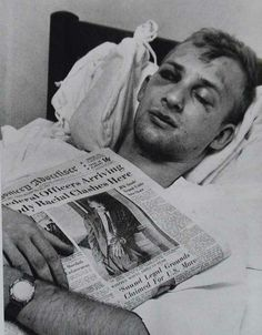 Jim Zwerg after a beating - a civil rights activist in Alabama in 1961