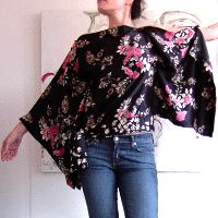 Madam butterfly top..with tutorial. Nx