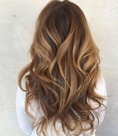 Long Layered Caramel Balayage Hair