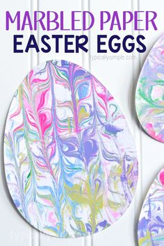 With just a few supplies, make this fun Easter Egg craft using marbled paper. The kids will have so much fun getting a little messy and creating some Easter decorations! crafts for kids elementary Shaving Cream Marbled Paper Easter Eggs Spring Crafts For Kids, Easter Art, Bunny Crafts, Crafts For Kids To Make, Easter Crafts For Kids, Toddler Crafts, Preschool Crafts, Easter Eggs, Diy Crafts