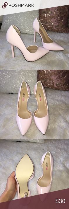 Super cute heels💕 These are alight pink and they are brand new, never worn. They are a size 5 JustFab Shoes Heels