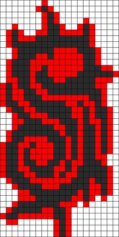 Slipknot Logo Perler Perler Bead Pattern / Bead Sprite