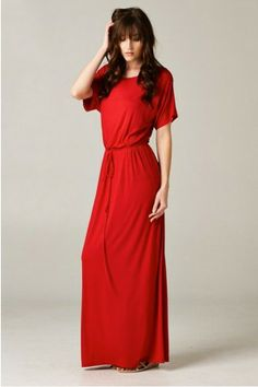 Rivera Maxi Dress- Red