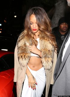 Rihanna's Hot Grammys After-Party Look (PHOTOS)
