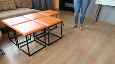 Quickly and simply 5 chairs are converted into a cube furniture diy Cube Furniture, Tiny House Furniture, Folding Furniture, Smart Furniture, Space Saving Furniture, Metal Furniture, Home Decor Furniture, Modern Furniture, Diy Home Decor
